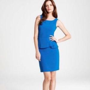 Ann Taylor Peplum Blue Sleeveless Mini Dress 14